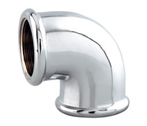 C0090 - Chrome plated 90° F.F. elbow