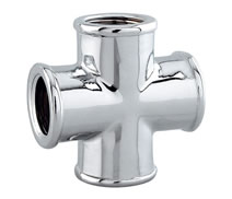 C0180 - Chrome plated F. cross fitting