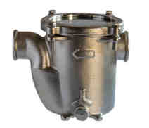 2005 - Bronze base mounted water strainer 'GENOVA' with clear lid