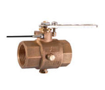 28912 - 'VITTORIA' full bronze ball valve F.F. with draining ports, full bore polymer ball, with position sensor