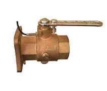 28922 - 'VITTORIA' full bronze ball valve, F.F. flanged body, with draining ports, full bore polymer ball, with position sensor
